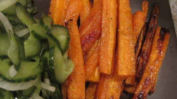 Oven-Baked Carrot Fries Recipe — Dishmaps