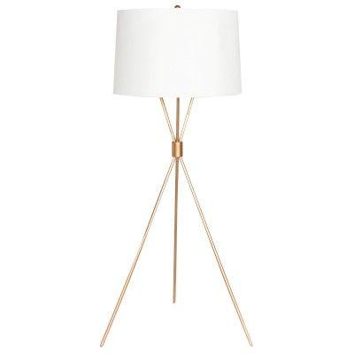 modern tripod floor lamp gold leaf. Black Bedroom Furniture Sets. Home Design Ideas