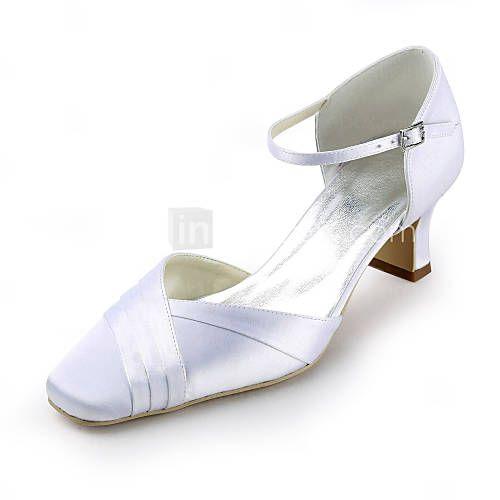 LightInTheBox Wedding: Satin Chunky Heel Square Toe With Ruffles ...
