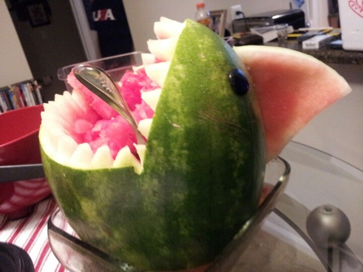 Sammy the shark, vodka infused watermelon
