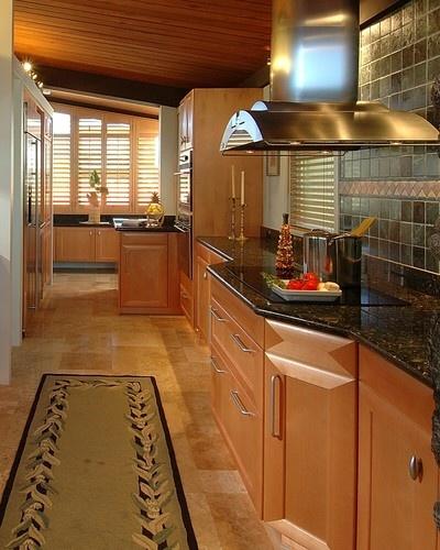 Maple cabinets with dark granite  Kitchen Ideas  Pinterest