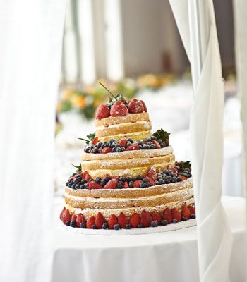 real weddings deconstructed wedding cake photo