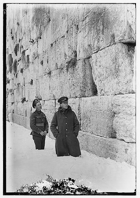 Snow in Jerusalem , 1921