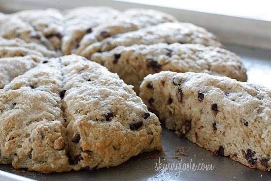 skinny chocolate chip buttermilk scones | Favorites | Pinterest