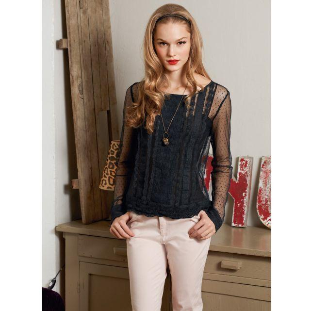 Mademoiselle R La Redoute automne-hiver 2013 blouse plumetis slim
