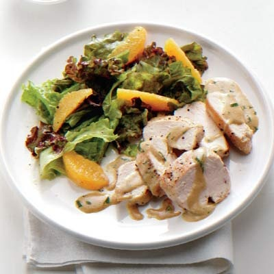 Chicken with Mustard-Tarragon Sauce