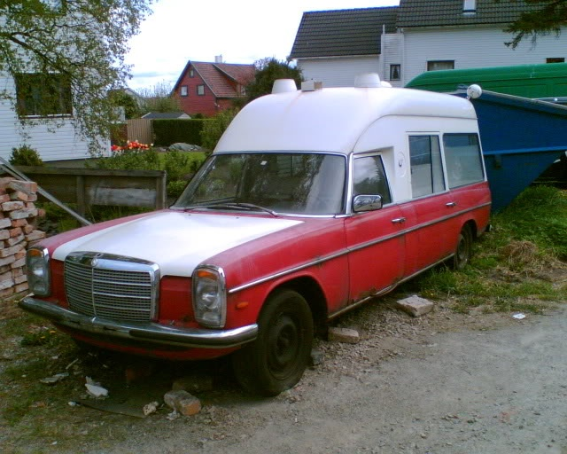 A 1970s mercedes Benz Ambulance in norway