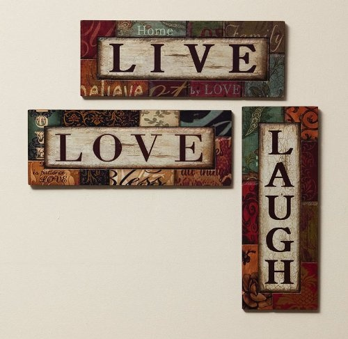 live laugh love wall decor homes decor lighting etc pinterest. Black Bedroom Furniture Sets. Home Design Ideas