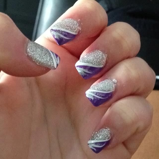Purple And Silver Nail Designs Graham Reid
