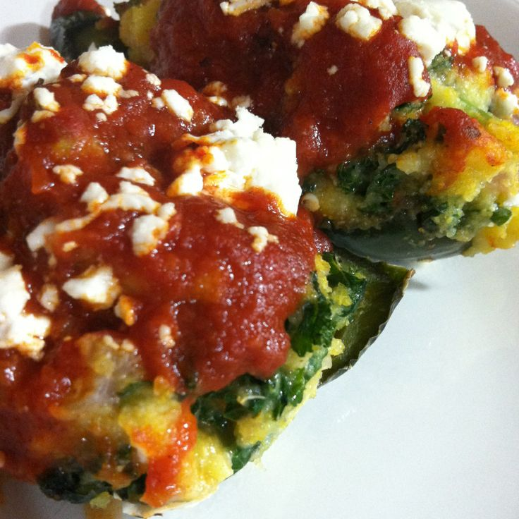 Polenta-Stuffed Poblano Peppers - perfect comfort food! http ...