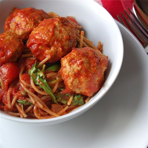 Spaghetti and Turkey Meatballs | Recipe
