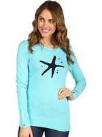 Charter Sweater Shorely Blue Starfish Intarsia