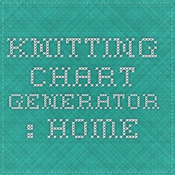 Knitting Pattern Generator From Picture : knitting chart generator : home Knit & Crochet Tips Pinterest