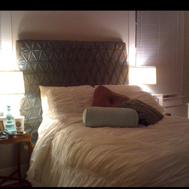 Plywood headboard covered in fabric  Craft Ideas  Pinterest