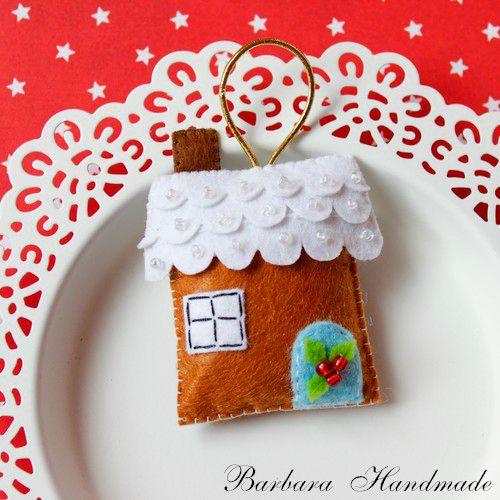 Barbara Handmade...: Mikołaj,Elf i domek z piernika