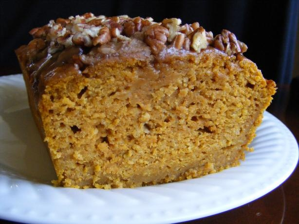 Moist pumpkin bread! Made this last night. Its sooooo moist and yummy ...