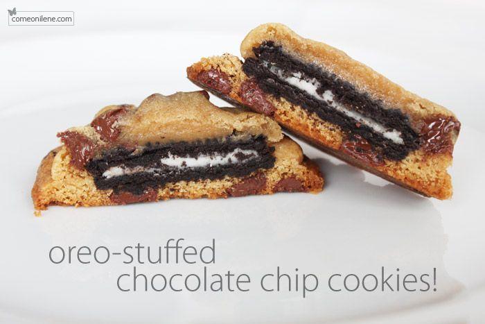 Oreo-stuffed chocolate chip cookies   recipes...   Pinterest
