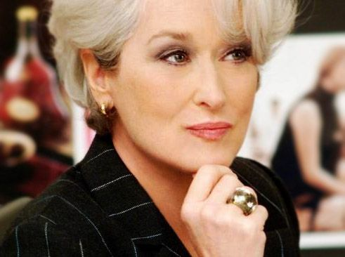 """Meryl Streep in """"The Devil Wears Prada."""" I love the movie and I love her character! She got nominated for an Academy Award for this role, you know. Best Supporting Actress."""