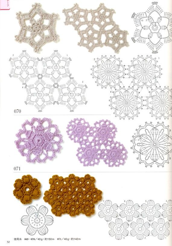 Crocheting Doily Patterns Book 300 - Japanese craft book