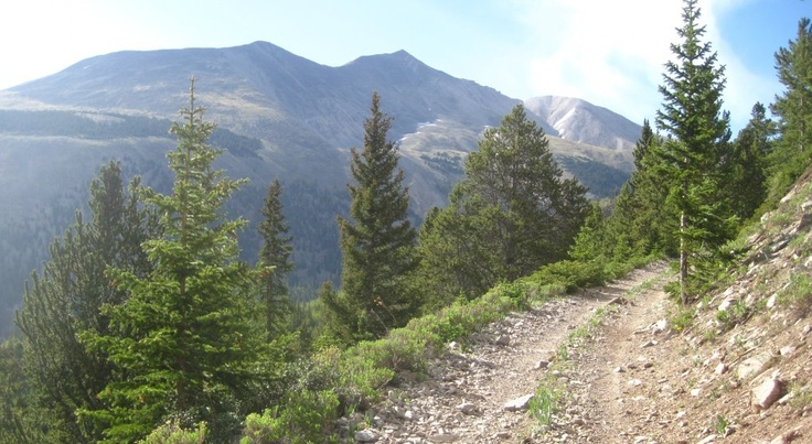 Mount Antero, seen from the Boulder Mountain 4WD road. http://coloradoguy.com/boulder-mountain/colorado.htm
