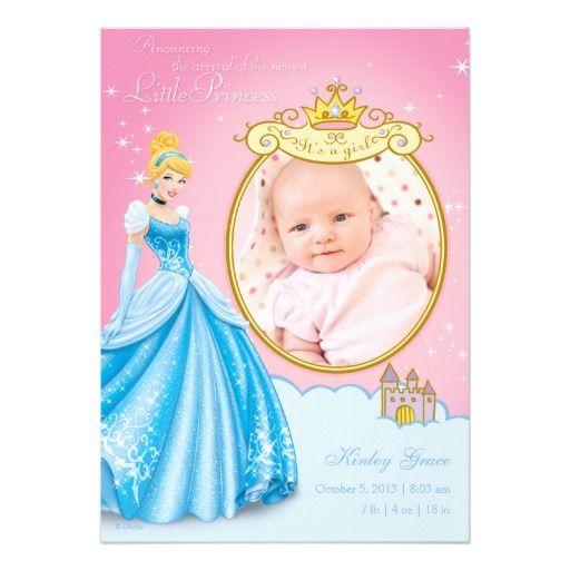 disney princess cinderella birth announcement baby shower