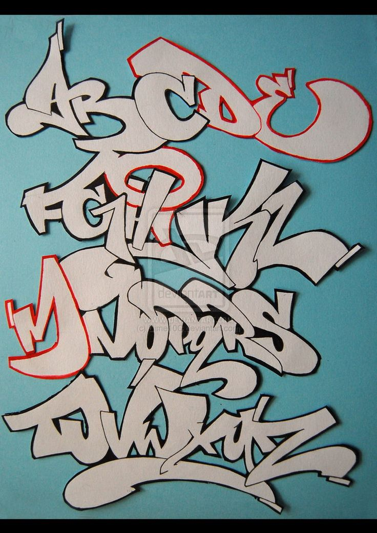 Cool alphabet letters in graffiti