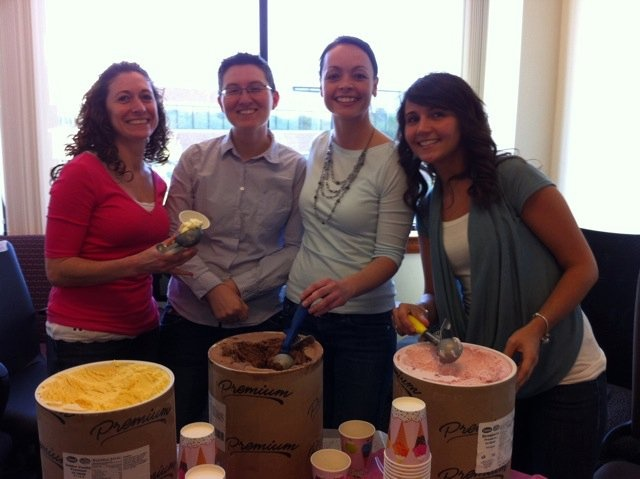 """We had an ice cream sundae party to welcome Angie """"webchick"""" Byron to the Acquia Team!"""