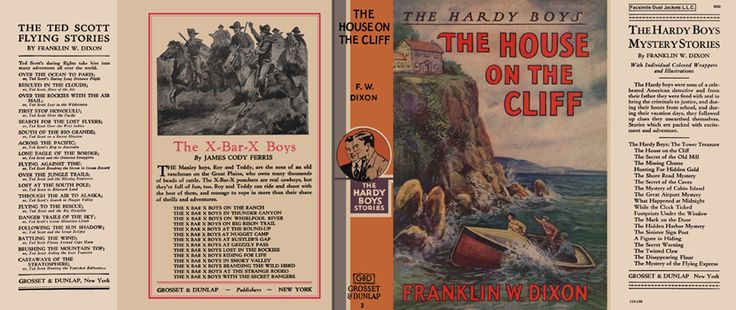 Hardy Boys #8, The Mystery of Cabin Island, DJ, 1950s Edition