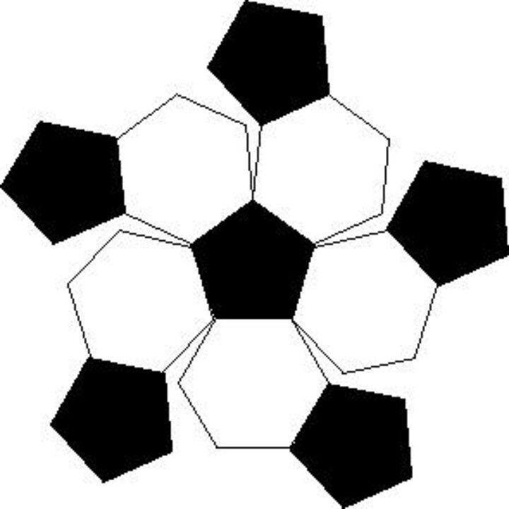 soccer ball pattern for cake