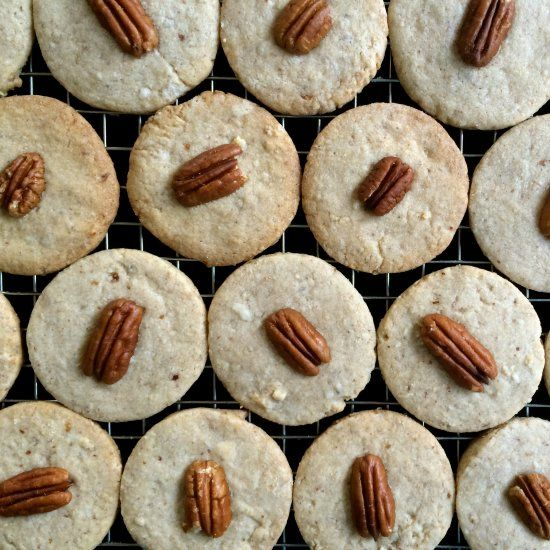 Butter Pecan Cookies--interesting, but not sure about the pecans.