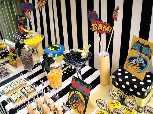 Batman dessert table