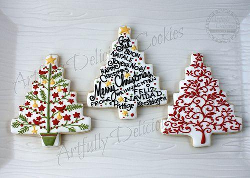 Elegant Christmas Tree Cookies | Cookies | Pinterest
