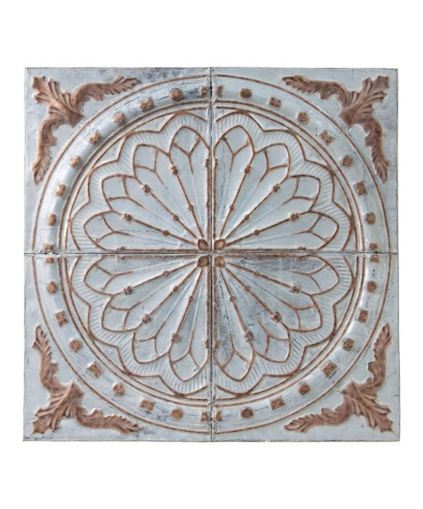 Vintage Embossed Medallion Wall Decor