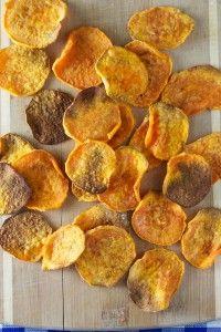 Baked Sea Salt Sweet Potato Chips