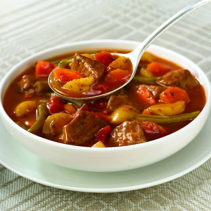 Slow Cookers Vegetable Beef Soup Recipe - Savor the taste of hearty ...