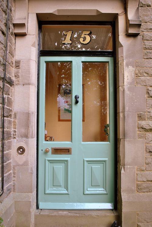 Green Front Door Different Pretty Home Pinterest
