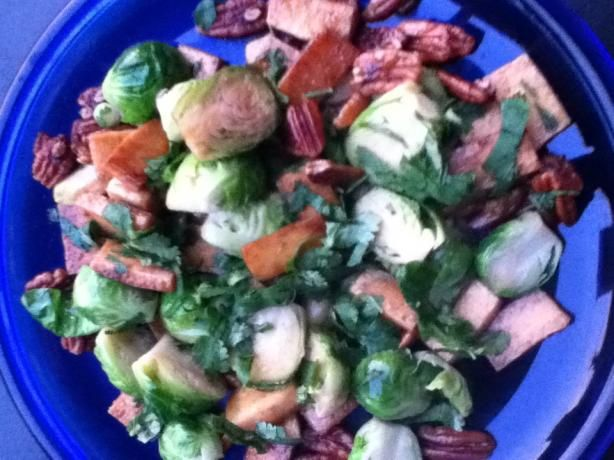 Caramelized Tofu and Brussel Sprouts With Cilantro and Nuts from Food ...