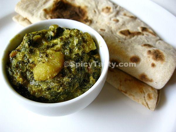 Aloo Sarson Da Saag – Creamy Green Curry with Potato | Spicy Tasty