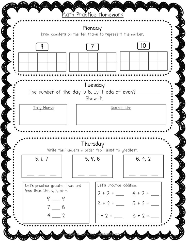 It is a picture of Candid First Grade Homework Packets Printable