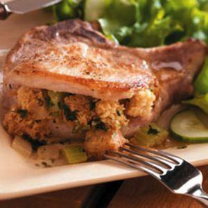 Herb Stuffed Pork Chops | Yummy Food & Dessert | Pinterest