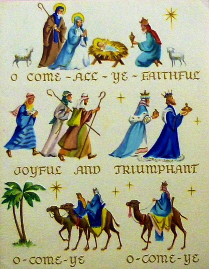 """Oh, come all ye faithful...""""   Christ in Christmas Cards   Pinterest: pinterest.com/pin/188658671862922092"""