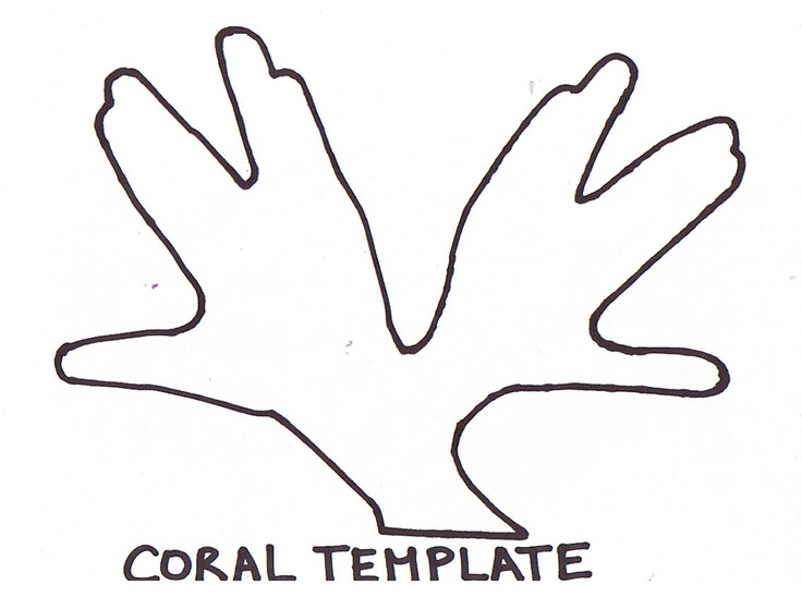 Coral template | Science: Ocean Study | Pinterest