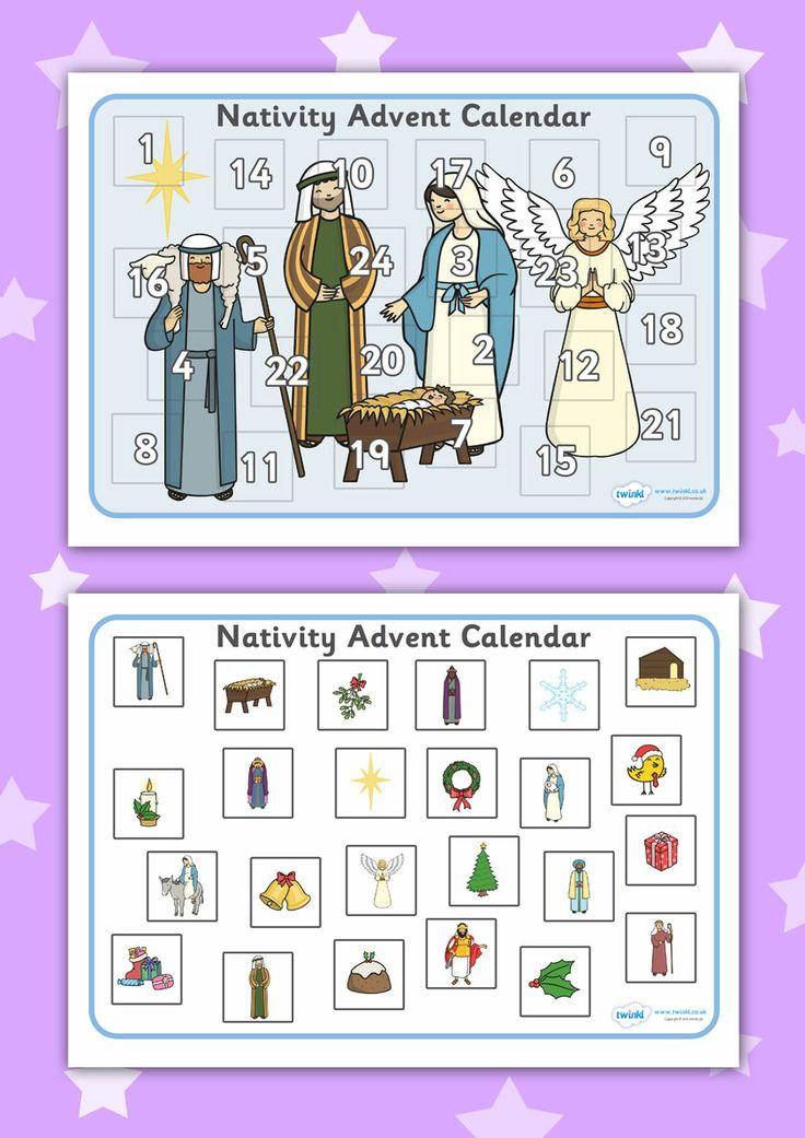 Advent Calendar Ideas Eyfs : Twinkl resources gt nativity advent calendar activity