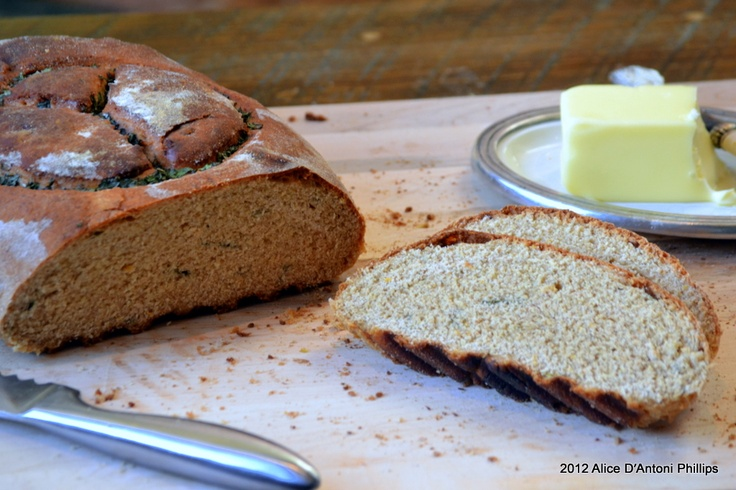 Meyer Lemon & Mint Peace Peasant Bread   SCONES & STONES   Pinterest