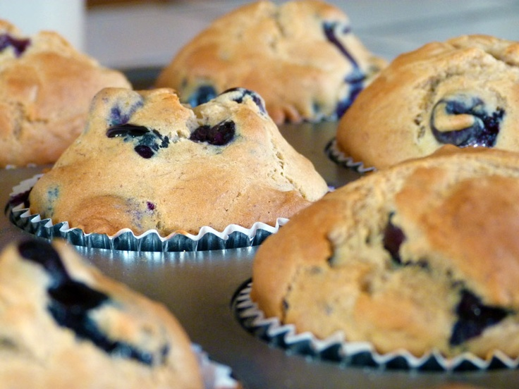 Healthy Blueberry Banana Muffins | Muffins | Pinterest