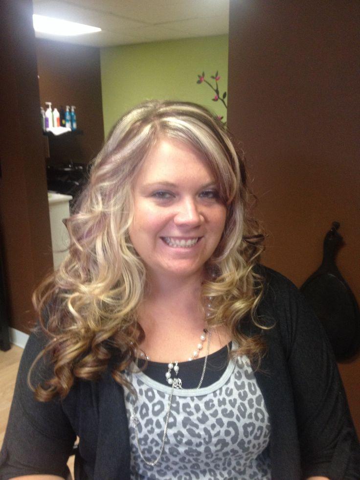 Violet & blonde highlights   Hair I do ,& love doing @ serenity spa ...