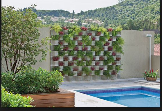 love this cinder block wall What a great veggie garden idea as well
