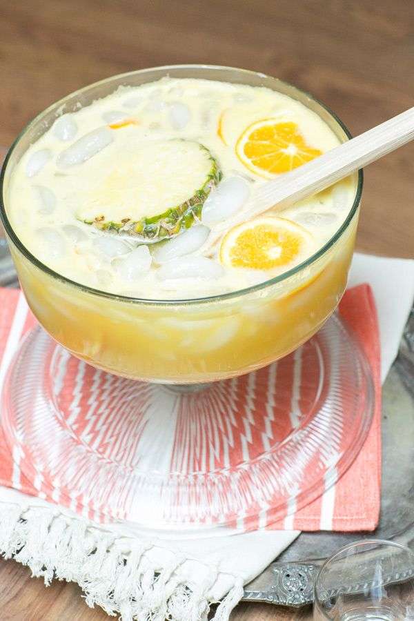 tropical ginger spiked punch
