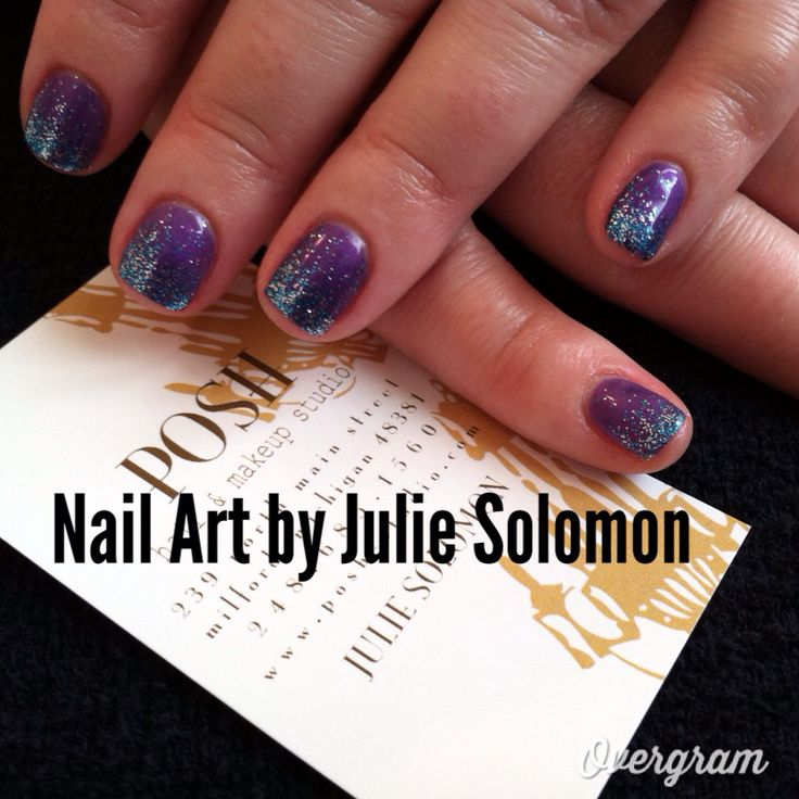 Glitter Nail Art with Shellac. | Nails | Pinterest