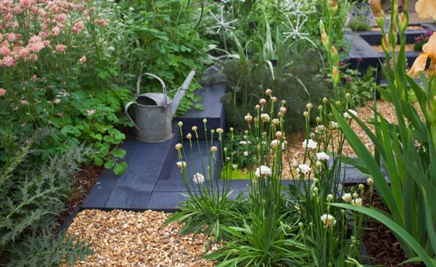 Create steps and levels garden pinterest for Small garden design pictures uk